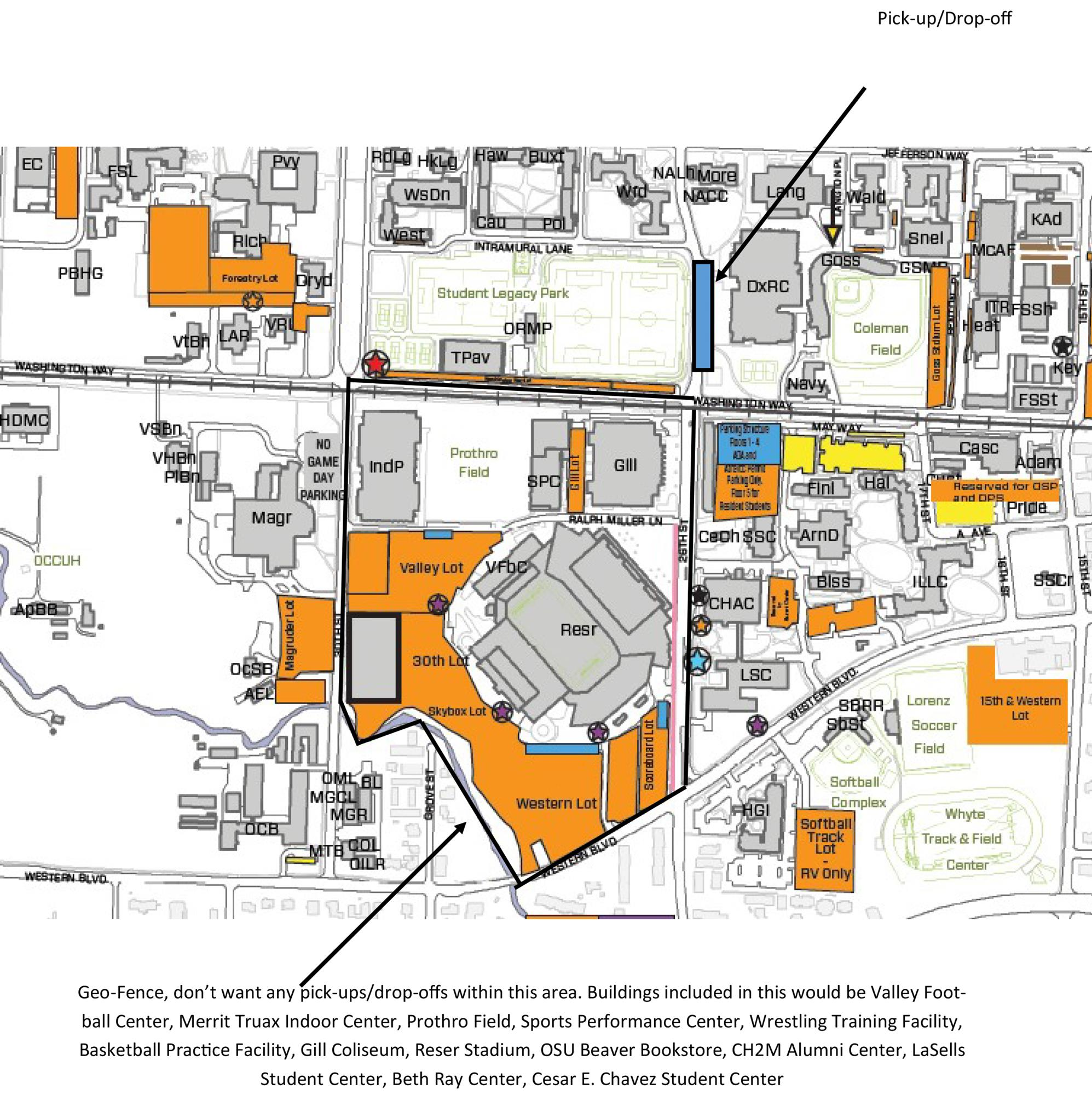 map as you e and go to Oregon State Home football games This service is also available for all Oregon State sporting events and drop off pick up
