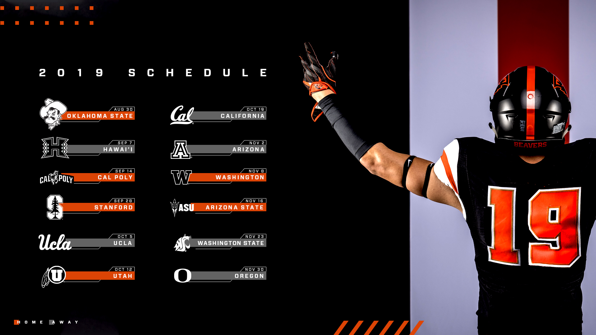 Oregon State Football Schedule 2020.Two Prime Time Games Highlight 2019 Schedule Oregon State