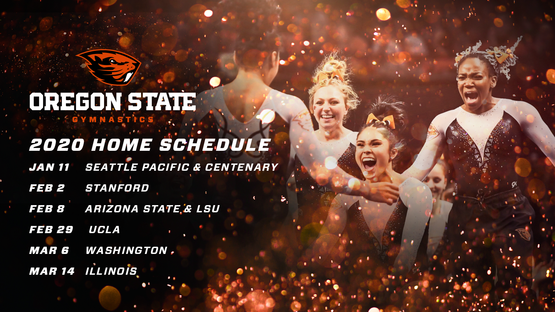 Oregon State Football Schedule 2020.Gymnastics Schedule Announced Oregon State University